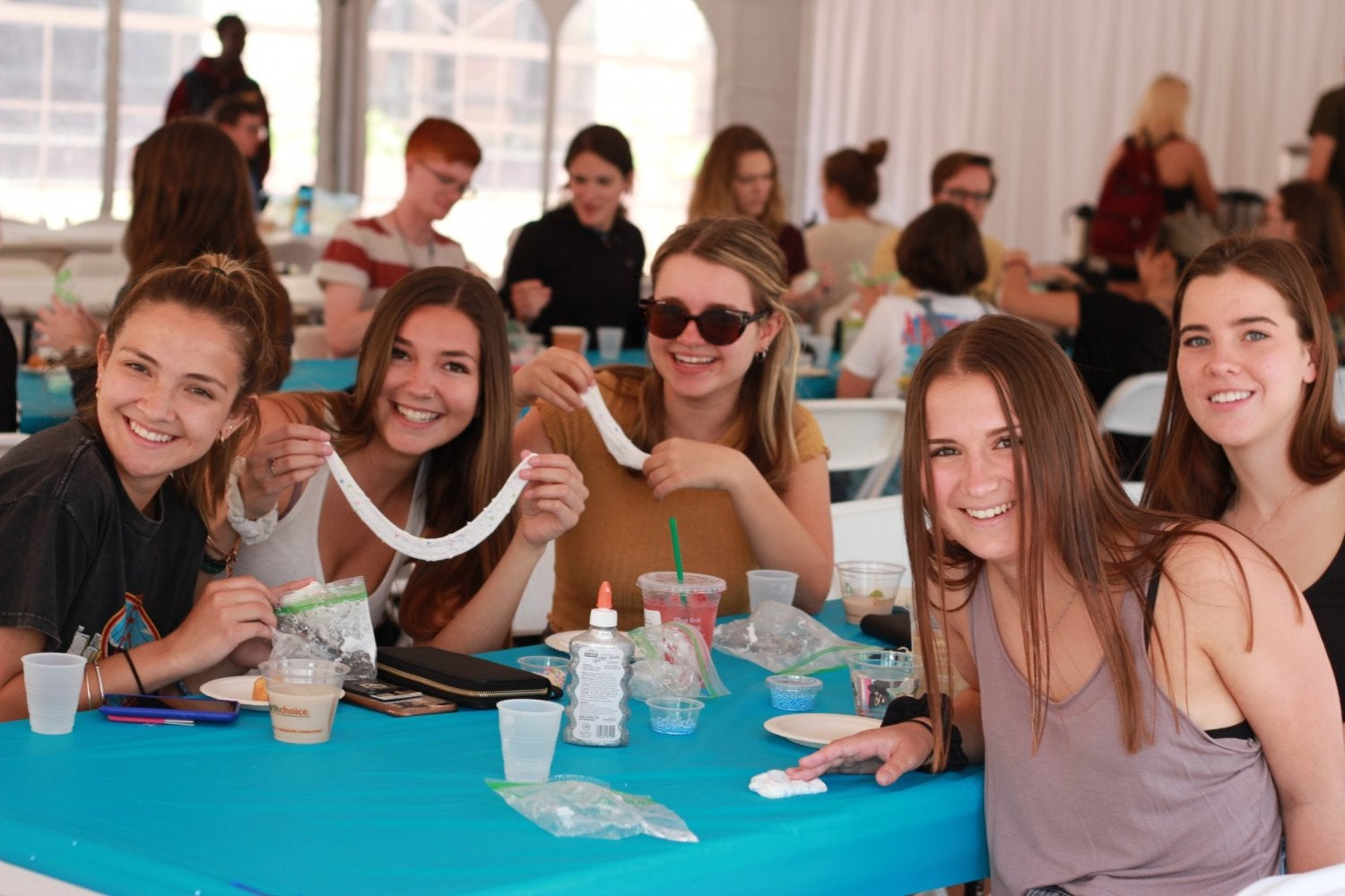 Students enjoying a CU on Friday event