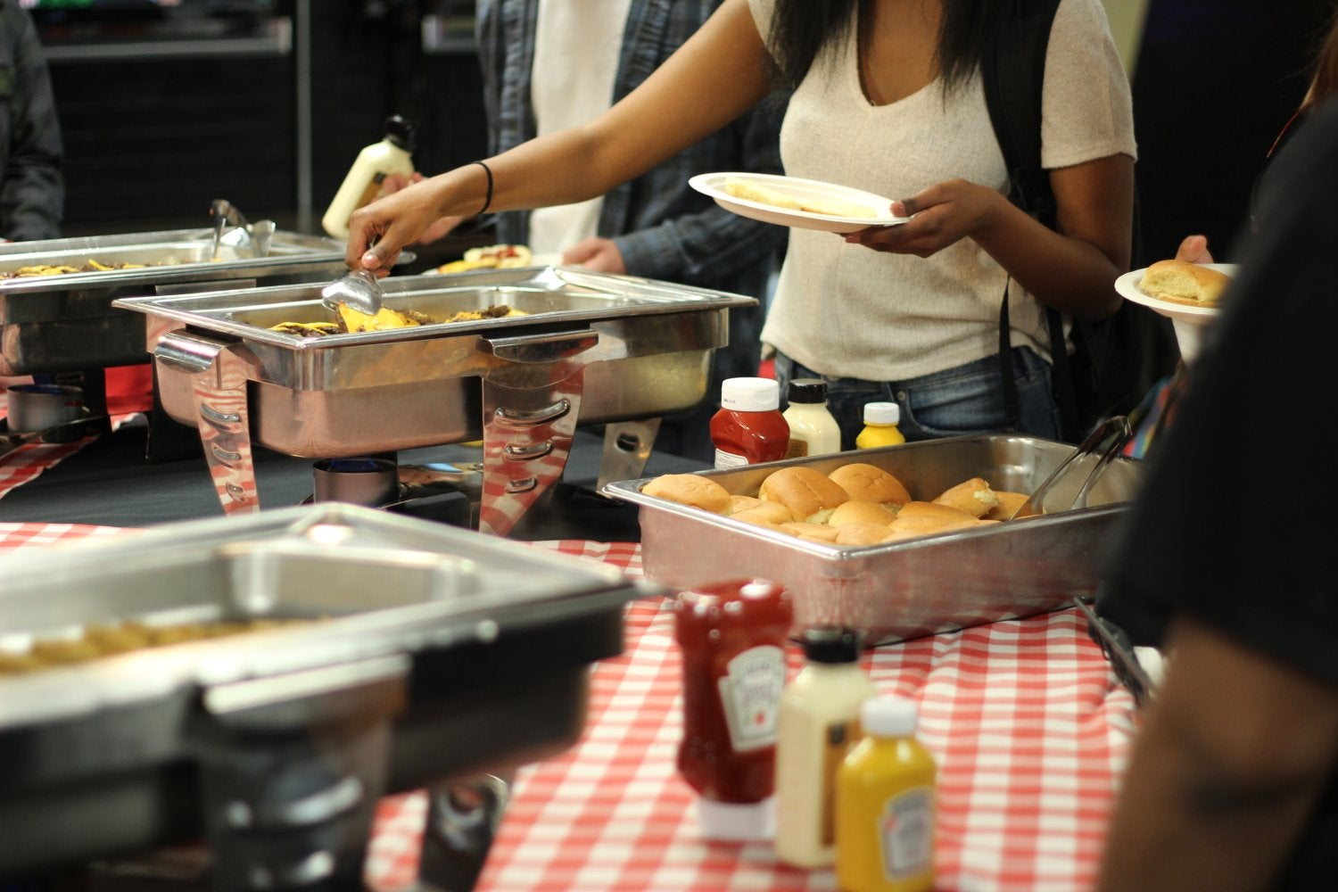 Food served at First Friday Buff Club