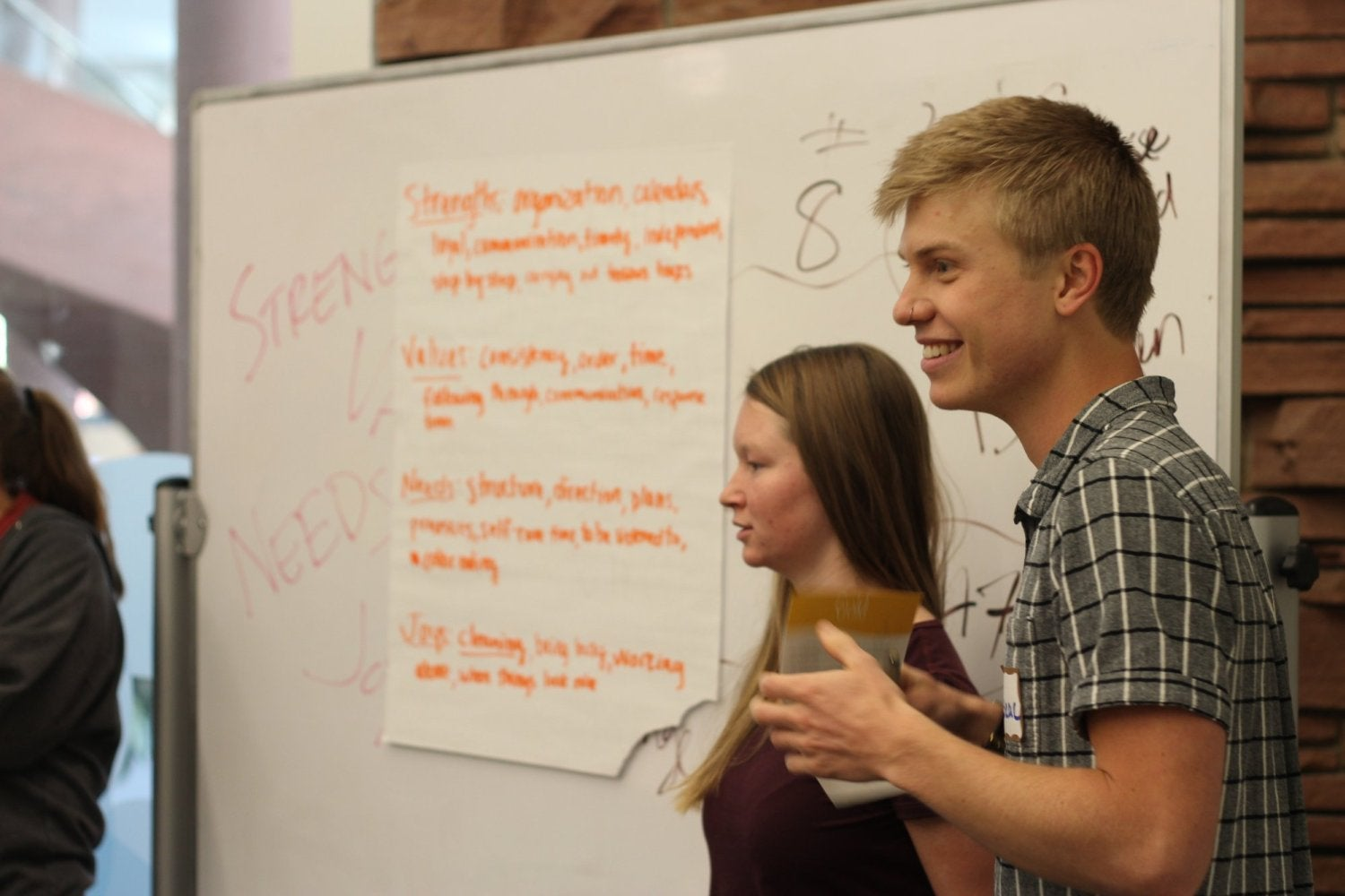 UMC student employees present at the Student Leader Retreat