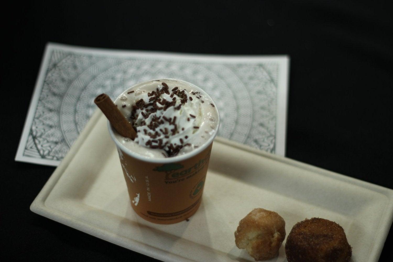 Hot cocoa and doughnut holes