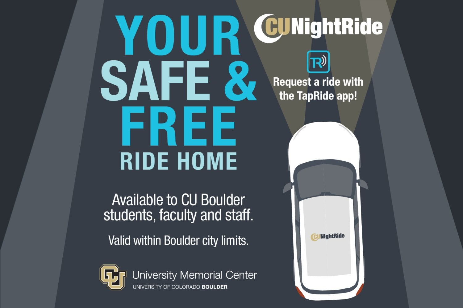 CU NightRide - Your free and safe alternative to walking home after dark