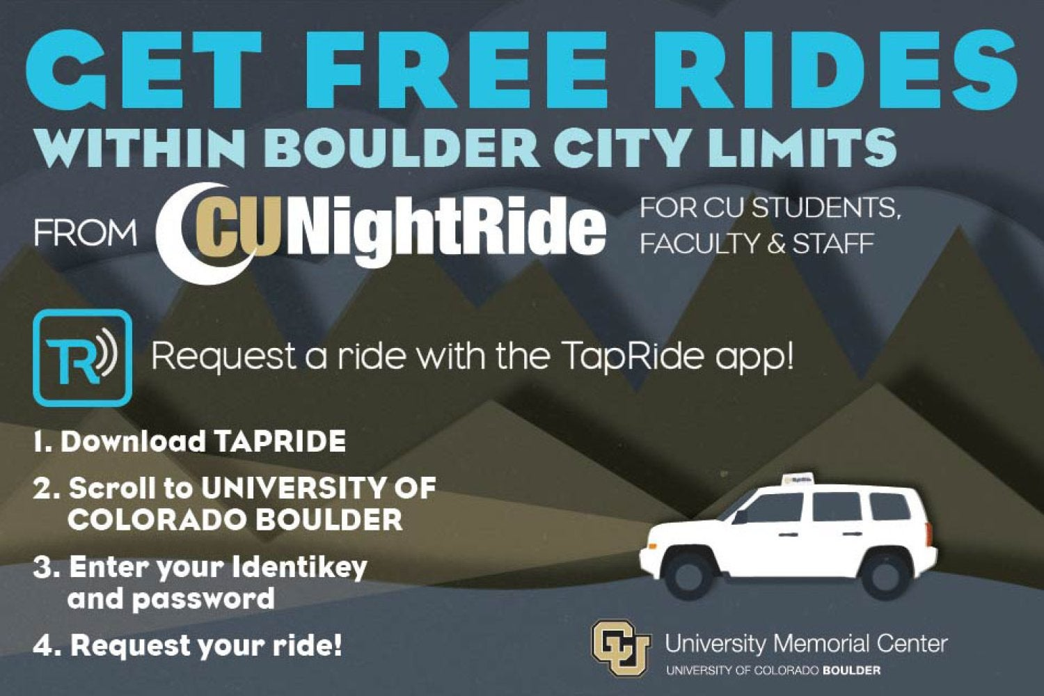 Request a ride with the TapRide app
