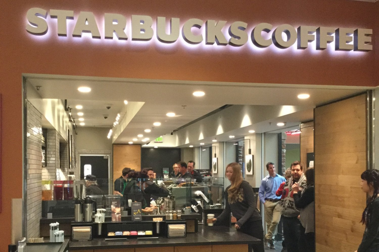 Starbucks opened April 1, 2016