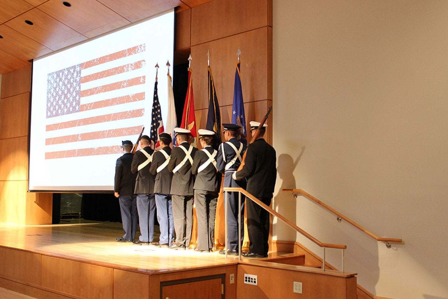 The Color Guard presentation at the 2016 Veterans Day Ceremony