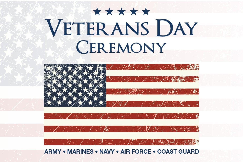 Veterans Day Ceremony, November 11, 2019, 11 a.m. Glenn Miller Ballroom