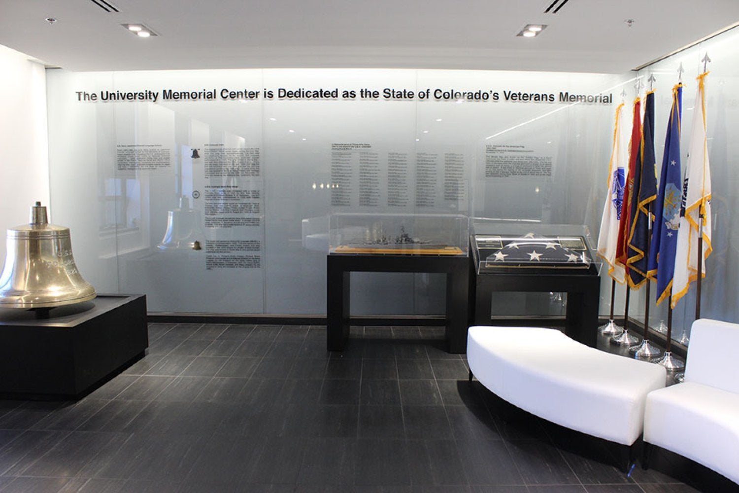 The Veterans Memorial Lounge on the second floor of the UMC