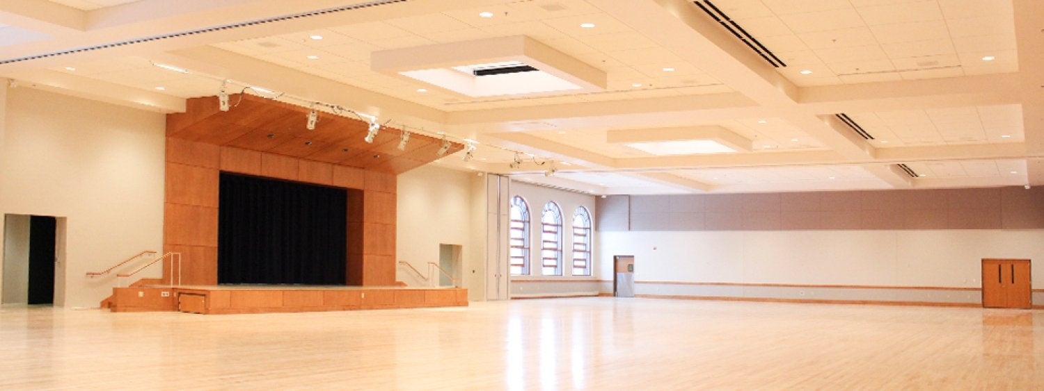 Photo of the newly renovated Glenn Miller Ballroom that reopened January 27, 2015