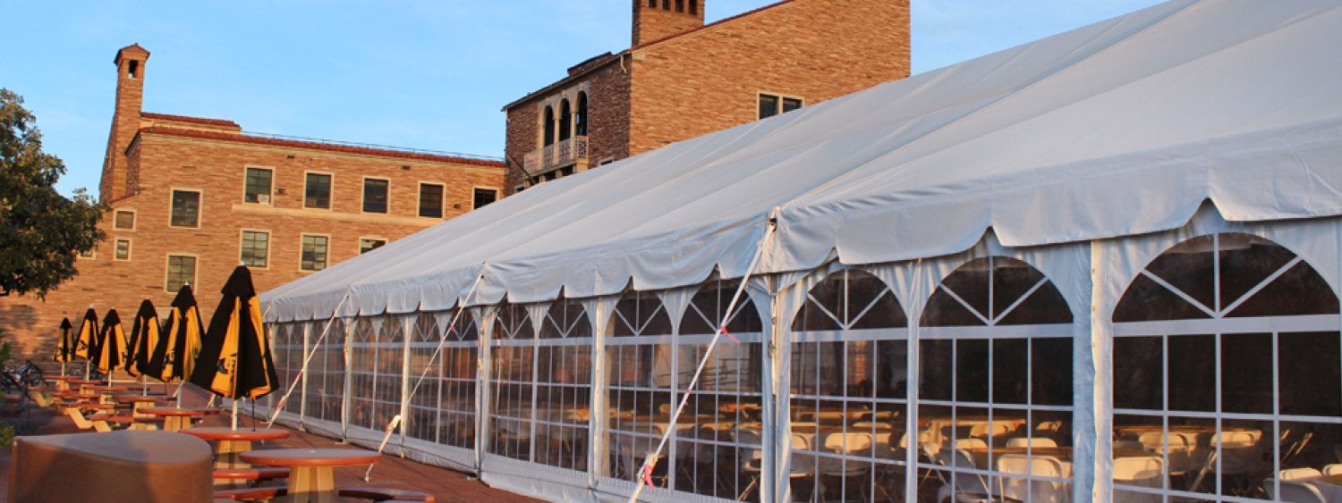 UMC South Terrace Tent Exterior