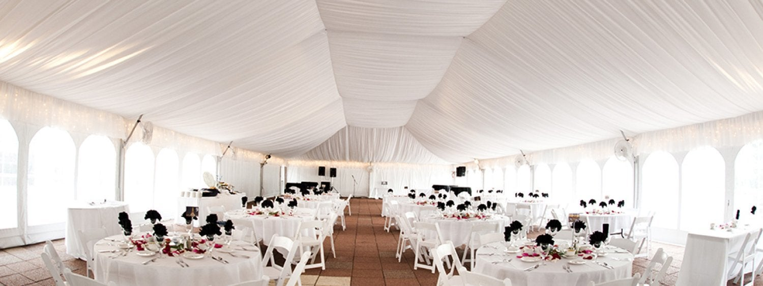 Inside the South Terrace Tent