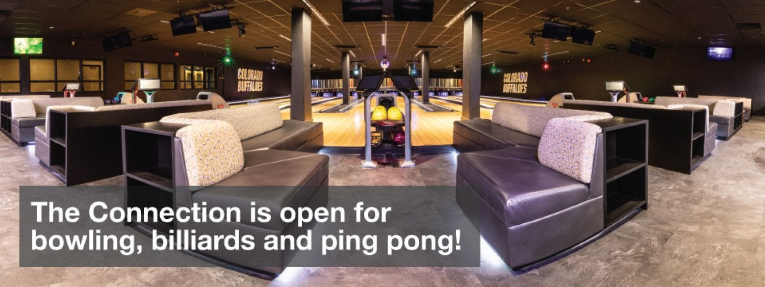 The Connection is open for billiards, bowling and ping pong