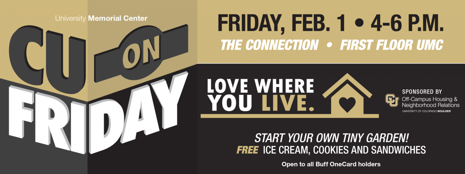 CU on Friday, February 1, 4-6 p.m. in The Connection