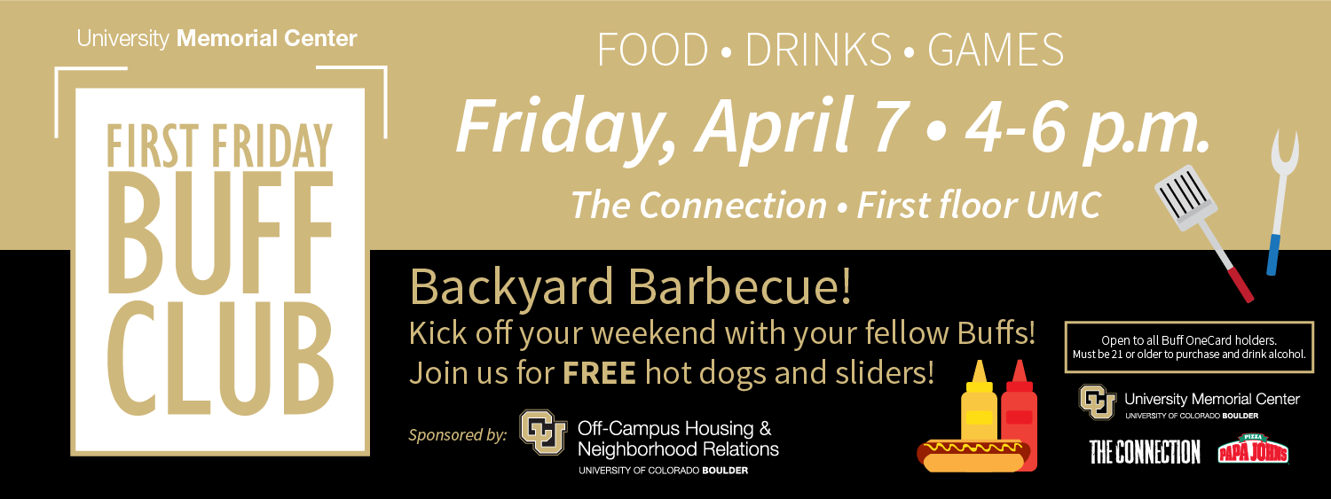 First Friday Buff Club, 4-6 p.m. on April 7 at The Connection