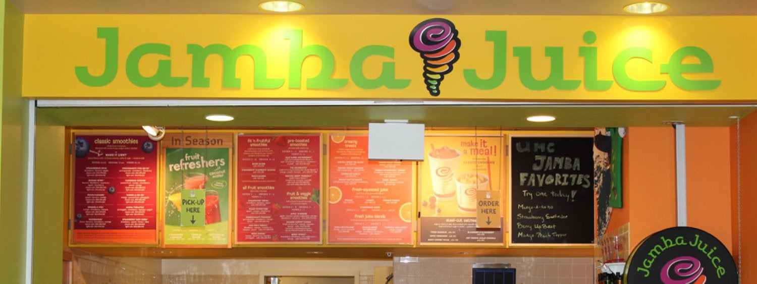 Jamba Juice fruit smoothies, healthy drinks, oatmeal