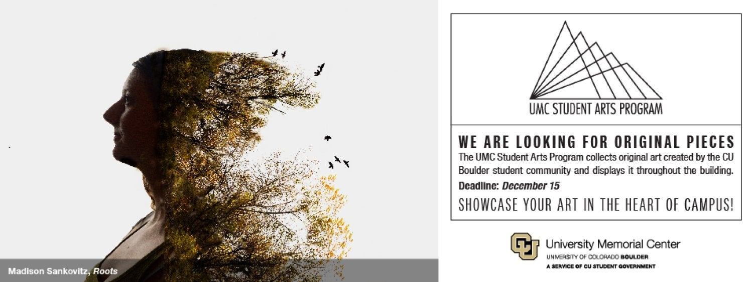 UMC Student Arts Program accepting submissions through December 15