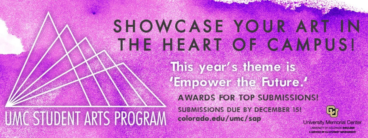Submit your art to the UMC Student Arts Program