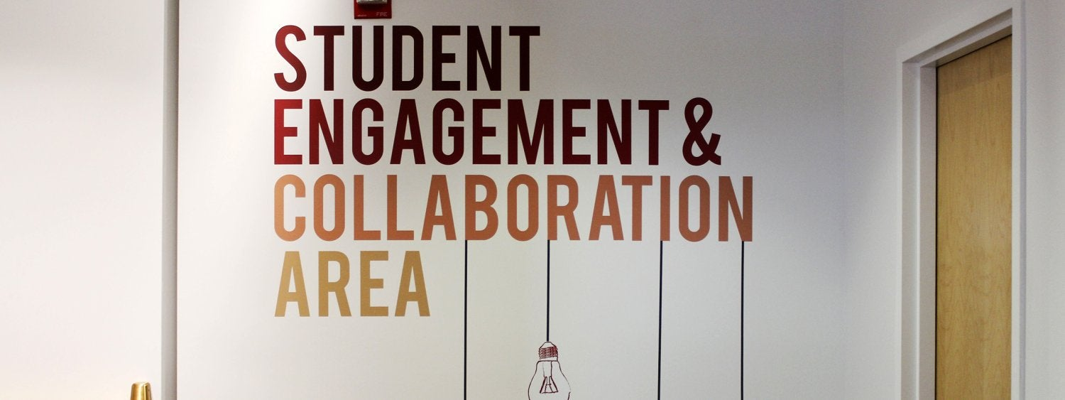 Entrance to the Student Engagement & Collaboration Area