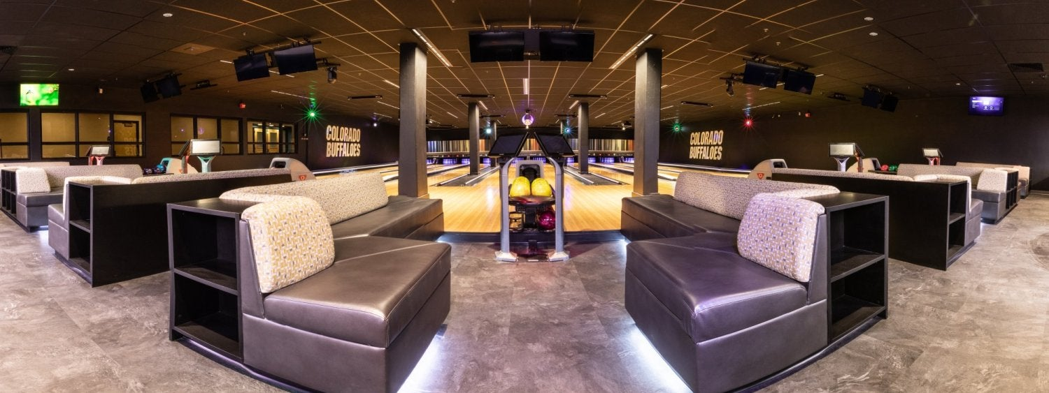 Bowling lanes at The Connection