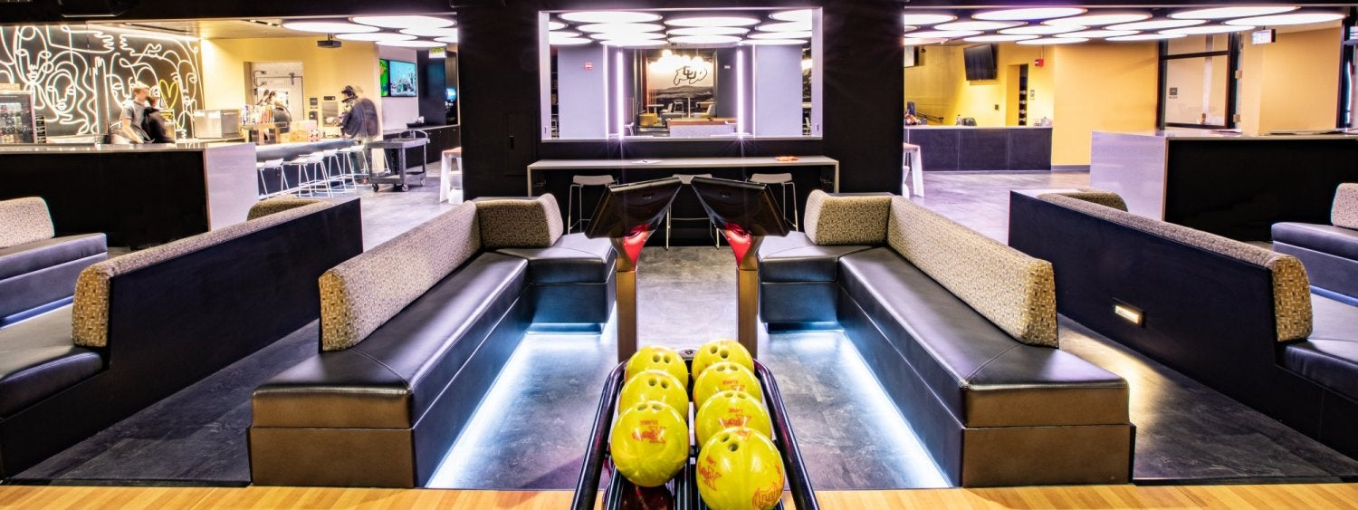 Bowling seating at The Connection
