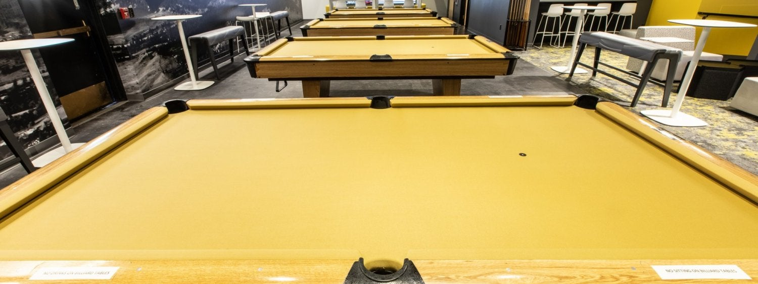 Billiards area at The Connection