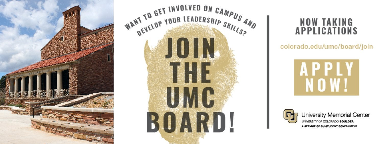 Join the UMC Board! Applications due September 18.