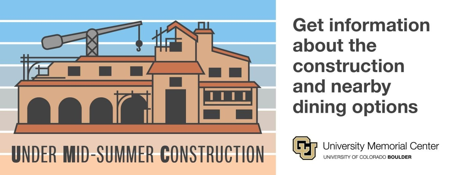 Get updates about the construction and nearby dining options