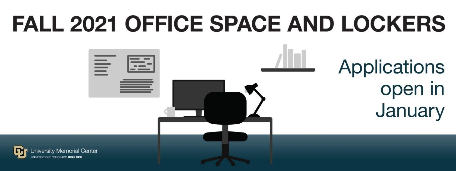 Fall 2021 Student Org Office and Locker Space Applications will open in January