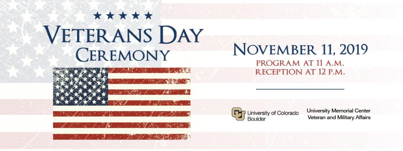 Veterans Day Ceremony Nov. 11, 11 a.m. Glenn Miller Ballroom