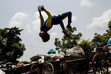 """Flipping Over Trash"" by Jackson Barnett"