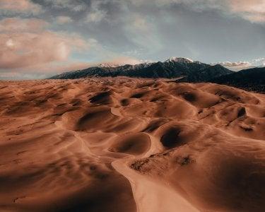 A photo of the Colorado sand dunes