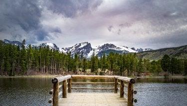 """Sprague Lake Deck"" by David Goudy"