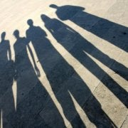 Shadows of people