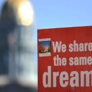 DACA rally sign: We share the same dreams