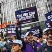 Activists celebrate the Deferred Action for Childhood Arrivals (DACA) program.