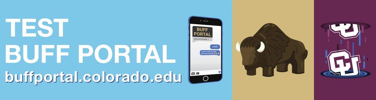 test buff portal at buffportal.colorado.edu