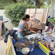 Kiehfuss painting in progress