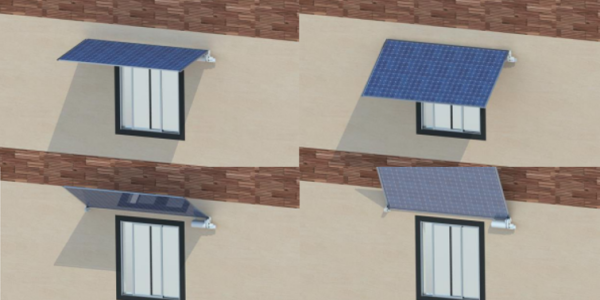 Dynamic Photovoltaic (PV)-integrated overhangs
