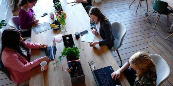 women in coworking space