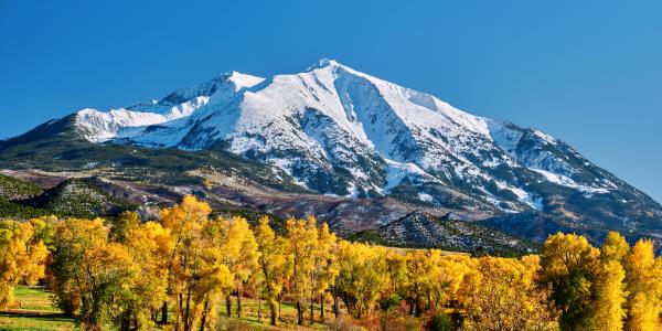 colorado mountain in fall