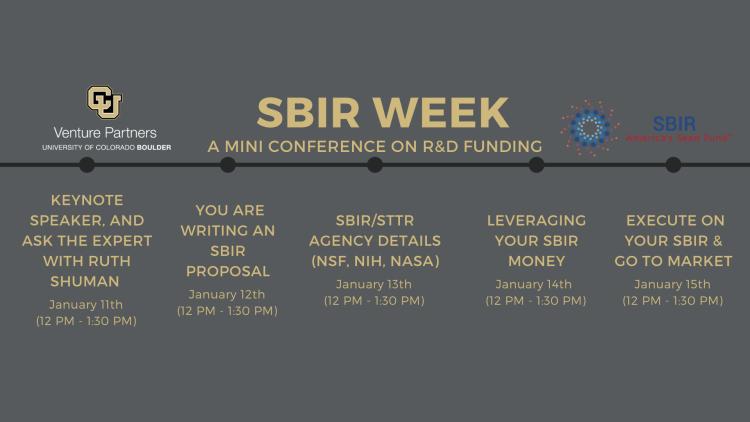 CU Boulder SBIR Week 2021