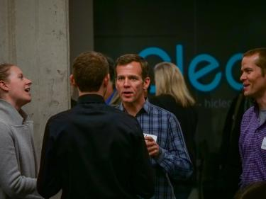 man networking