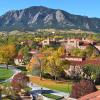 cu boulder aerial view of campus