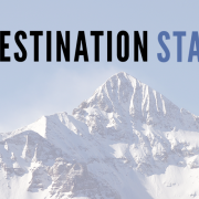 destination startup logo with mountain