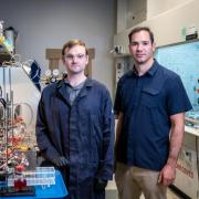 brian robb and michael marshak in lab