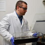 cu boulder scientist in the lab