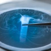Cryopreservation of test tube on liquid nitrogen