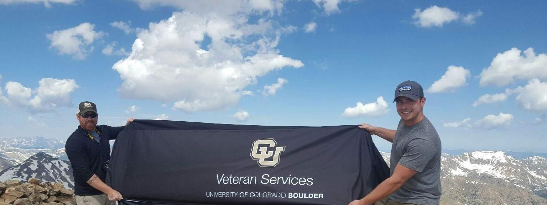 Veteran Services Banner on Mt. Elbert