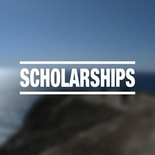 "blurry seaside photo with ""scholarships"" overlayed"