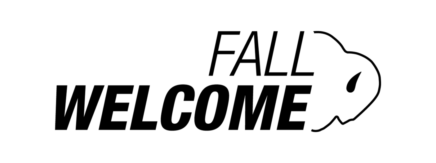 Fall Welcome with a buffalo outline facing the right