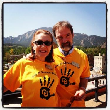 Joel Feldman & Dianne Anderson, Casey Feldman's parents, at Day of Service 2012