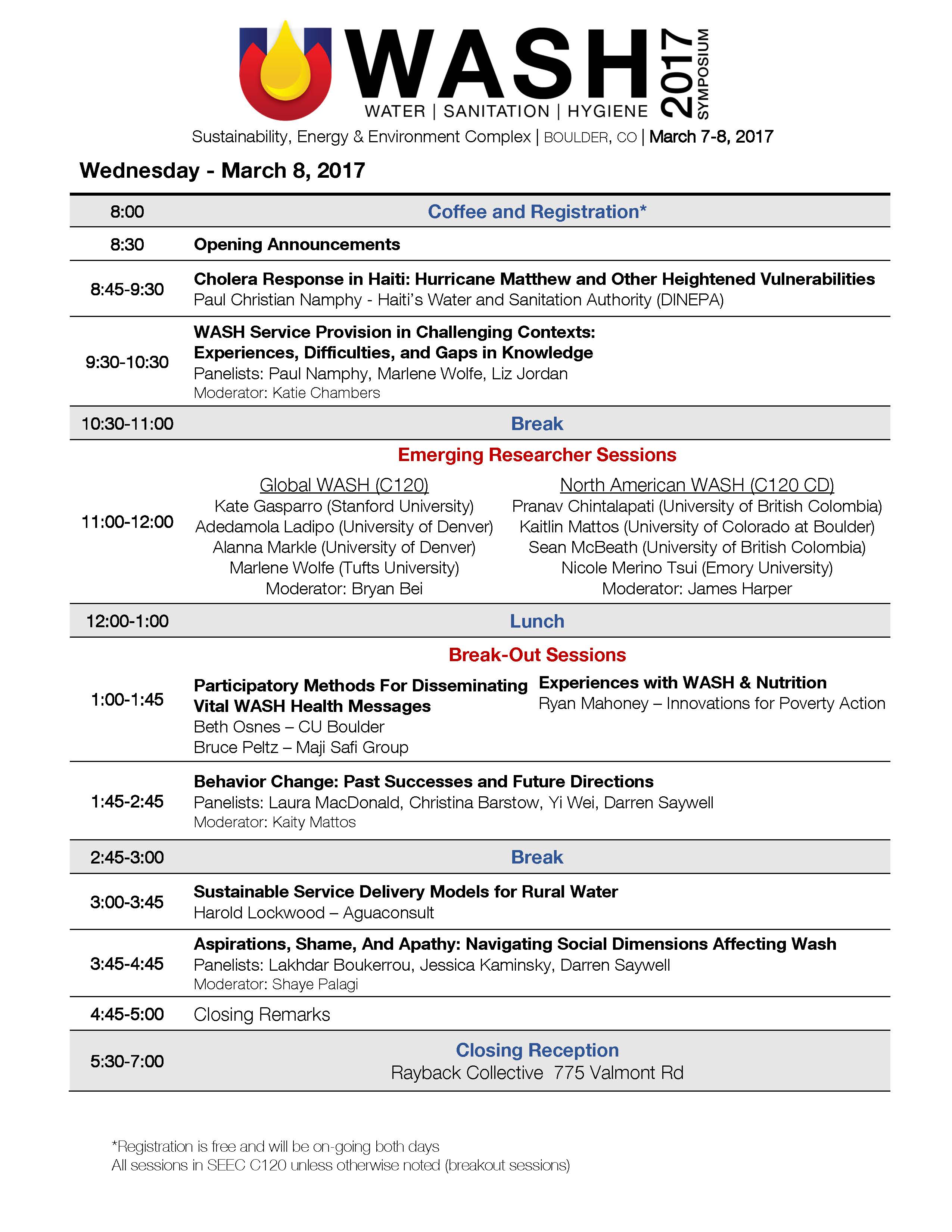 2017 CO WASH Symposium Program pg 2
